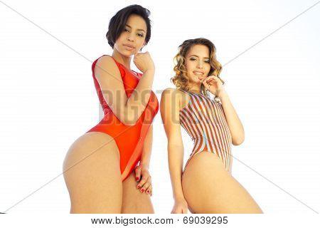 Two Beautiful Sexy Women In Bikinis