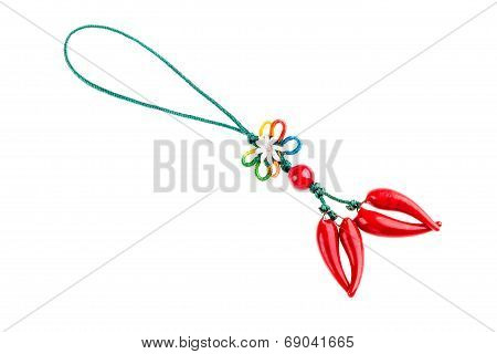 a typical neapolitan lucky charm talisman isolated over a white background poster
