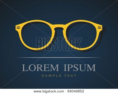 Vector Image Of Glasses Orange