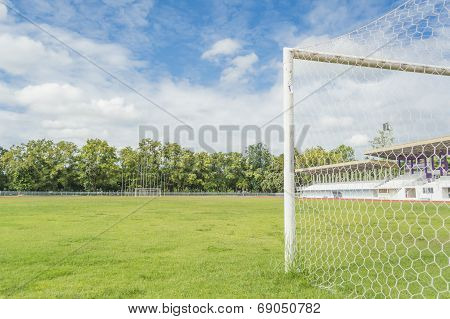 Soccer Goal And Field.