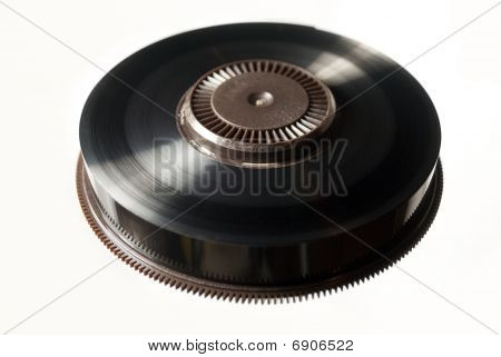 Reel Of Black Backup Magnetic Tape