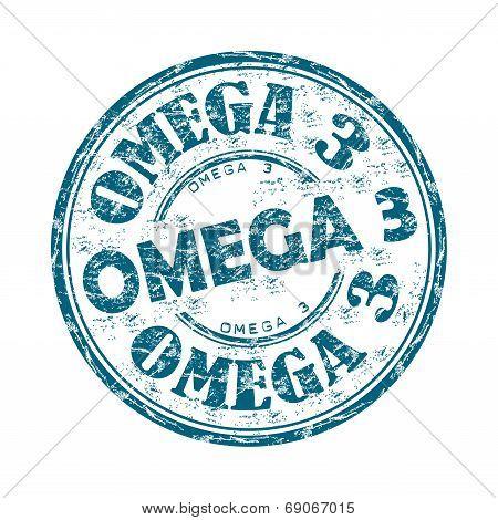 Omega three grunge rubber stamp