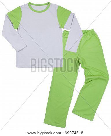 Child suit set isolated on white background