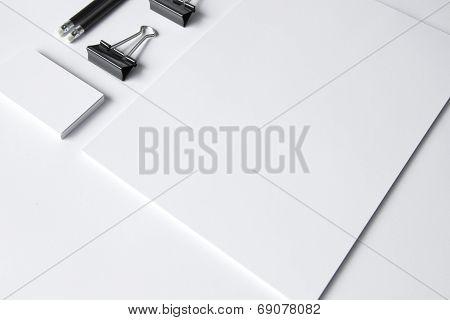 Blank Stationery Isolated On White