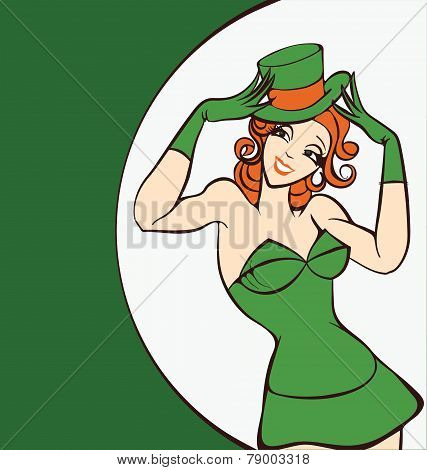 smiling woman Leprechaun