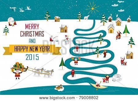 Eskimos New year Christmas 2015 (english)