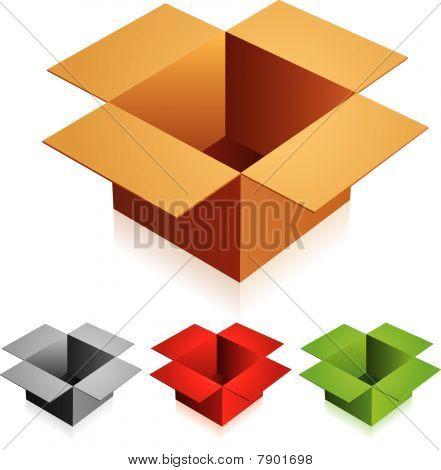 Opened box