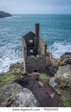 Botallack tin mines in cornwall england uk