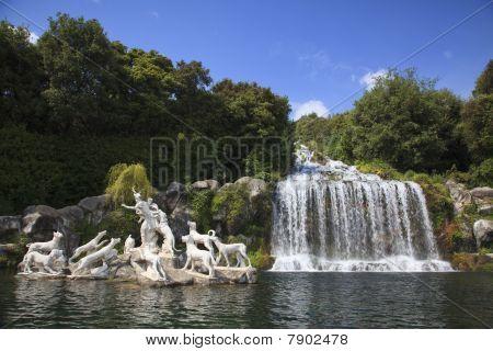 Beautiful Waterfall In Caserta, Italy