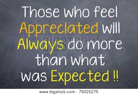 Appreciation leads to more