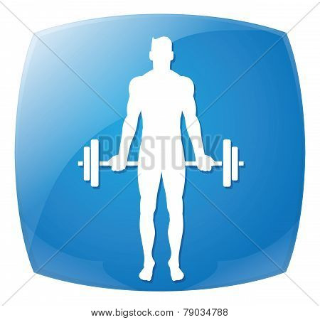 Man People Athletic Gym Gymnasium Body Building Exercise poster