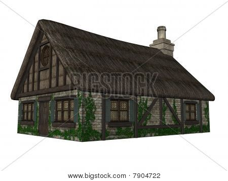Illustration Of An Isolated Cottage