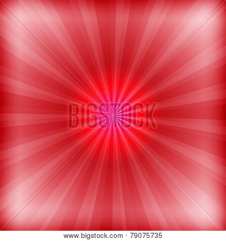 Red background with lens flare