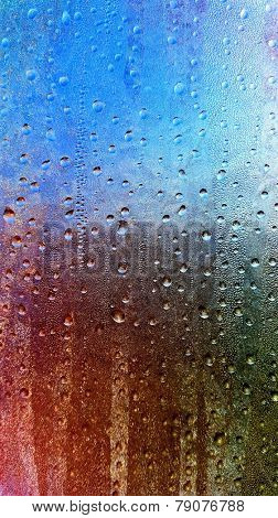 Water drops on the window background