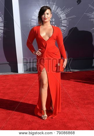 LOS ANGELES - AUG 24:  Demi Lovato arrives to the 2014 Mtv Vidoe Music Awards on August 24, 2014 in Los Angeles, CA
