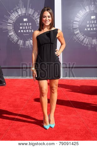 LOS ANGELES - AUG 24:  Camille Guaty arrives to the 2014 Mtv Vidoe Music Awards on August 24, 2014 in Los Angeles, CA