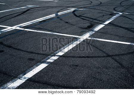 Asphalt Surface Of The Empty Parking