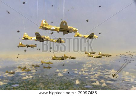 Bombers In Formation Diorama