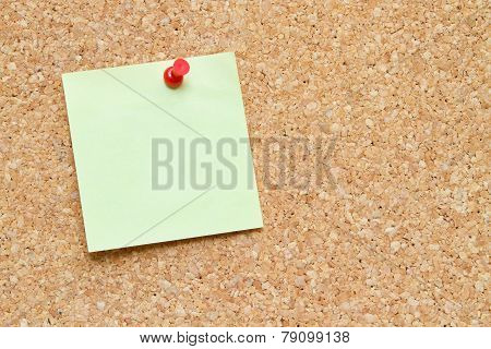 Blank Note On A Bulletin Board