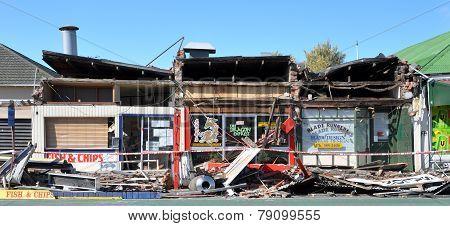 Take-away Hell, Christchurch Earthquake Damage.
