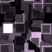 Square glowing abstract background light pattern illustration poster