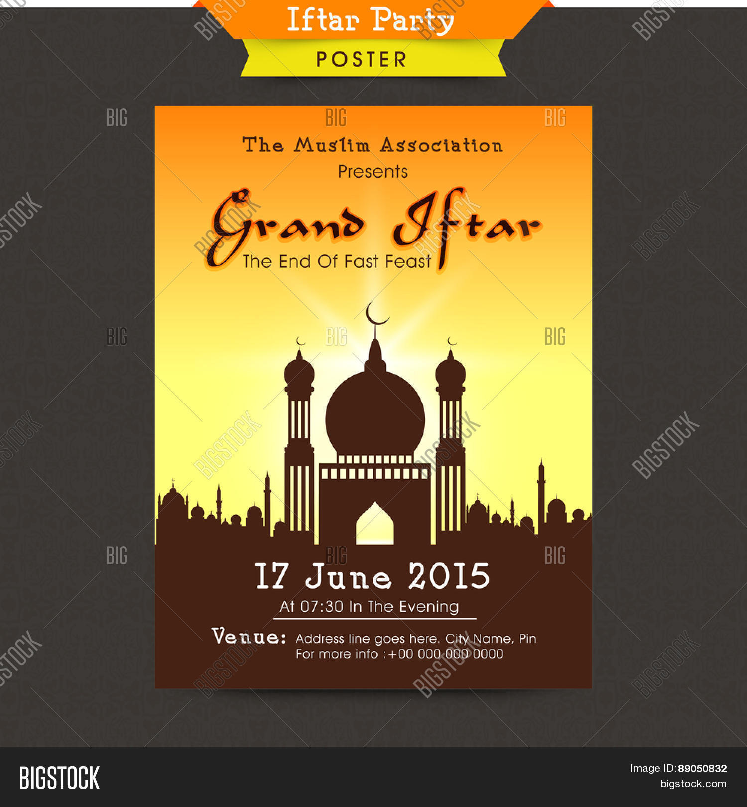 Stylish mosque decorated beautiful vector photo bigstock stylish mosque decorated beautiful invitation card design for holy month of muslim community ramadan kareem stopboris Images