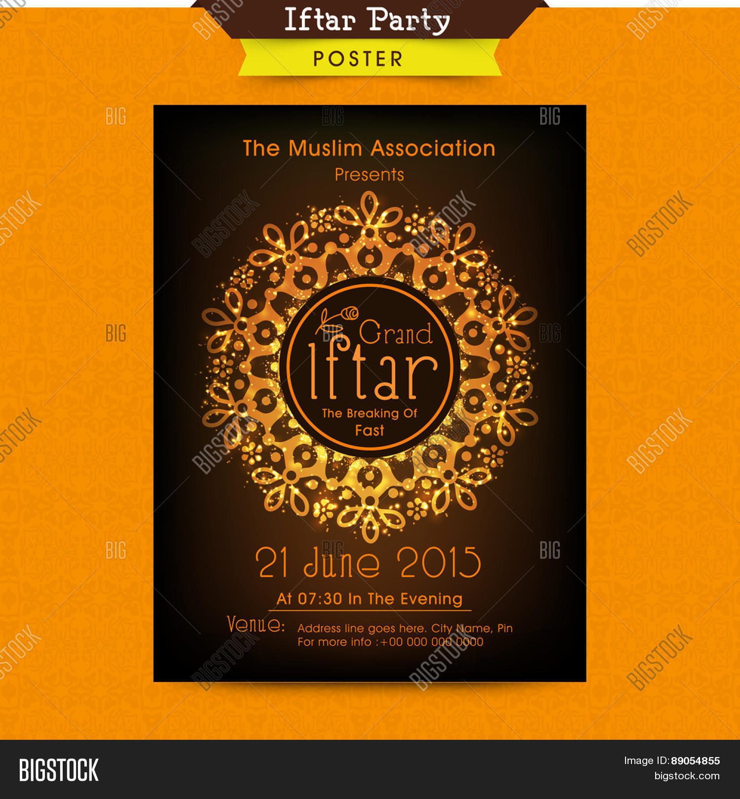 Beautiful floral design decorated vector photo bigstock beautiful floral design decorated invitation card for holy month of muslim community ramadan kareem iftar party stopboris Images