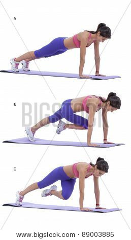 Plank With Knee To Elbow