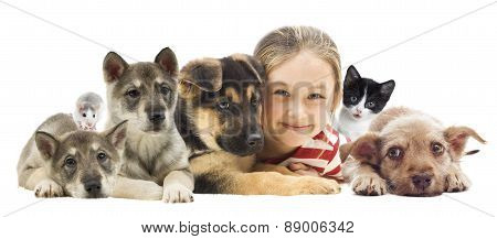 Child And Set Pets