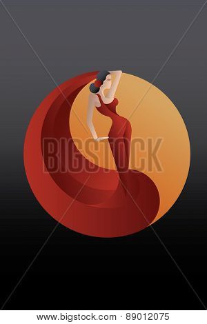 styled Spain Flamenco dancer