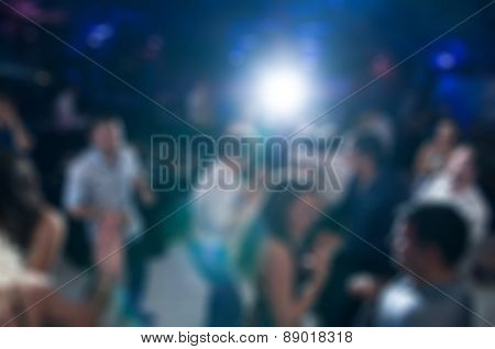 People dancing blur background