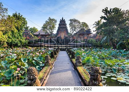 Lotus Temple (ubud) In The Early Morning