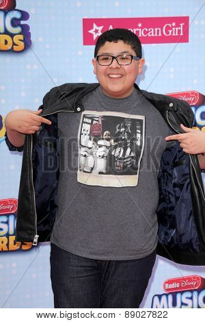 LOS ANGELES - APR 25:  Rico Rodriguez at the Radio DIsney Music Awards 2015 at the Nokia Theater on April 25, 2015 in Los Angeles, CA