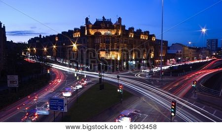 Glasgow Streets At Night