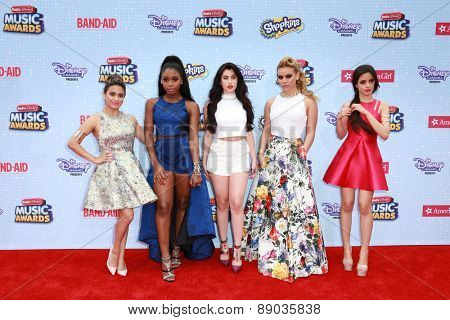 LOS ANGELES - APR 25:  Fifth Harmony at the Radio DIsney Music Awards 2015 at the Nokia Theater on April 25, 2015 in Los Angeles, CA
