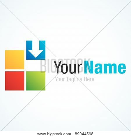 Fill the gap create your business colorful squares graphic design logo icon