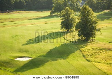 Golf Fairway In Summer From Above