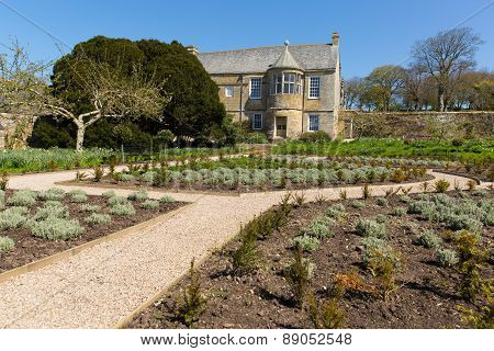 Trerice House Newquay Cornwall England UK beautiful Elizabethan manor house and gardens in sunny spr