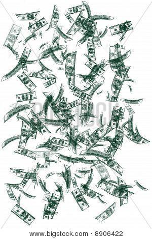 Falling Money Background