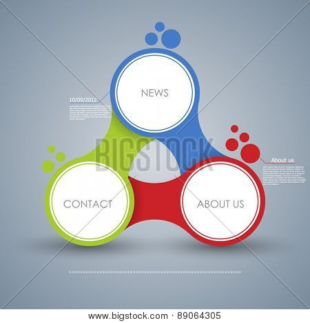 Business concept with 3 options, parts, steps or processes. Template for diagram, graph, presentation and chart. Web design. One two three  - vector paper progress steps for business