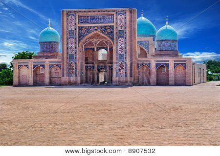 View of a Khazrat-Imom complex in Tashkent (Uzbekistan). poster