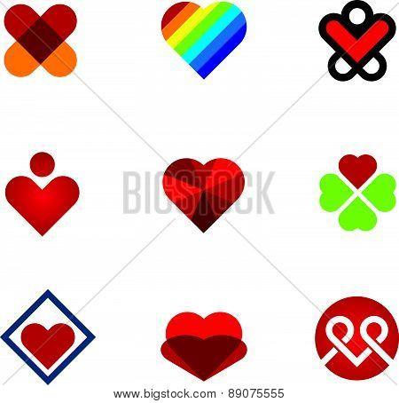 Give love special gift red heart symbol logo icon