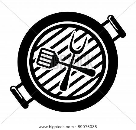 Barbecue grill on white background vector illustration
