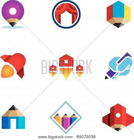 Go - live - explore - conquer online digital new business logo icon