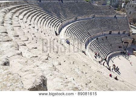 The Roman Theater in Amman, Jordan