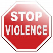 stop violence and aggression violent or aggressive actions no war or fights poster