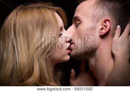 Couple Kissing With Passion