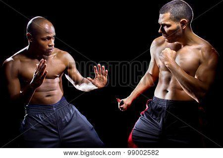 Martial Arts Instructor Demonstrating Knife Self Defense