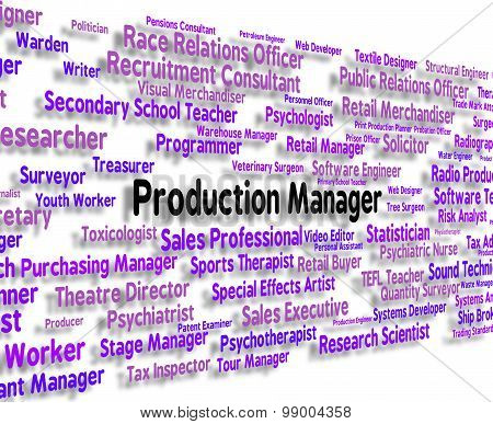 Production Manager Represents Occupations Employment And Work
