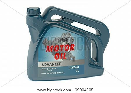 canister motor oil isolated on white background poster